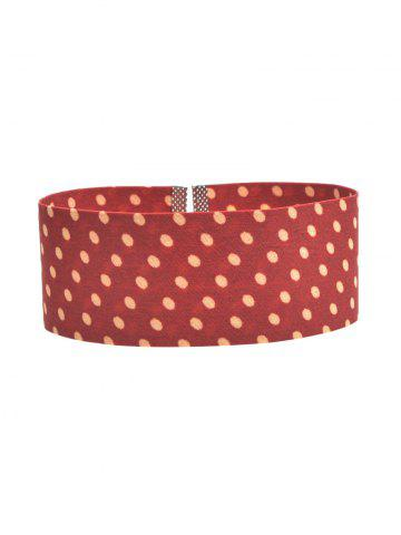 Latest Polka Dot Print Wide Choker Necklace