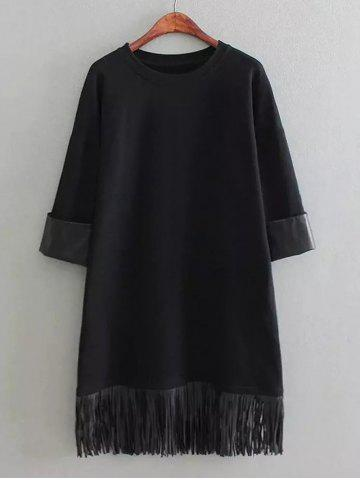 Shops Tassels Loose Straight Dress
