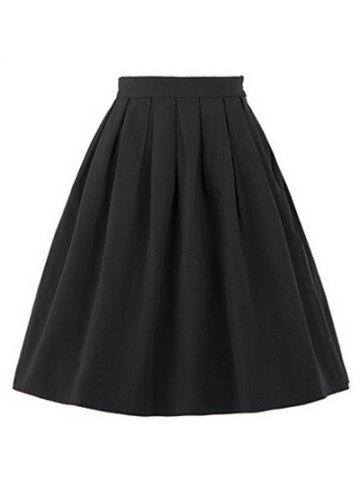 New High Waisted Ruched Full Skater Skirt