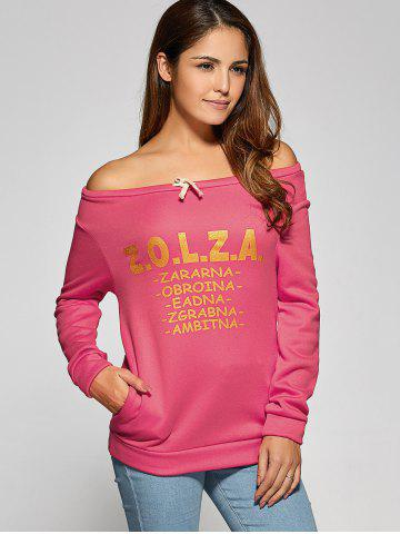 Latest Letter Pattern Drawstring Sweatshirt