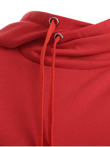 Outfit Elk Print Christmas Pullover Hoodie - S RED Mobile