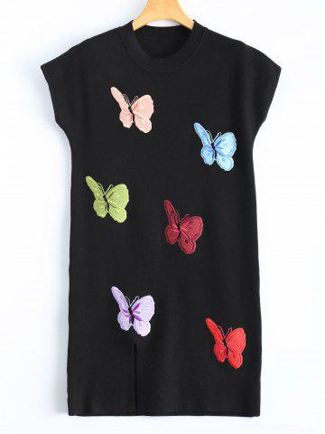 Buy Butterfly Embroidered Plus Size Sweater Dress
