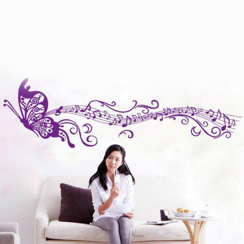 Artistic Butterfly Musical Note Room Decor Wall Stickers - PURPLE