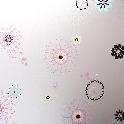 Hot Waterproof Floral Wall Stickers Window Showcase Decoration