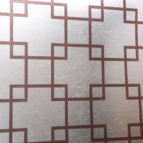 Latest Waterproof Plaid Design Removable Window Bathroom Wall Stickers TRANSPARENT