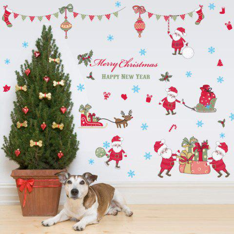 Merry Christmas Removable Showcase Room Decoration Wall Stickers - Colorful