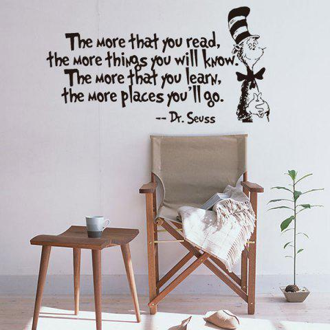 Latest The More English Proverb Removable Vinyl Wall Decal Stickers - BLACK  Mobile