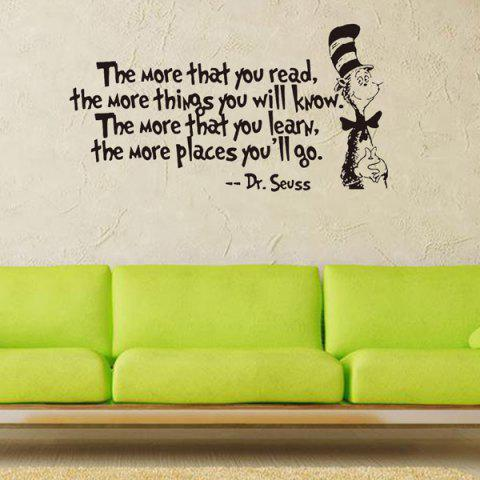 Outfits The More English Proverb Removable Vinyl Wall Decal Stickers - BLACK  Mobile