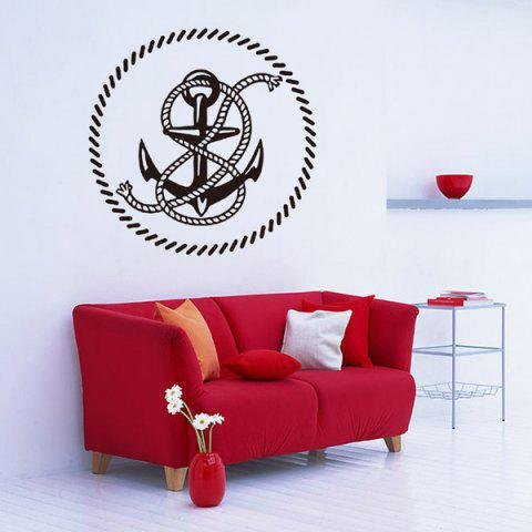 Black Creative Anchor Removable Living Room Decor Wall Stickers