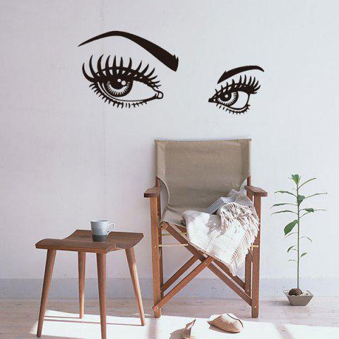 Fancy Charming Eyes Pattern Wall Art Stickers Room Decor BLACK