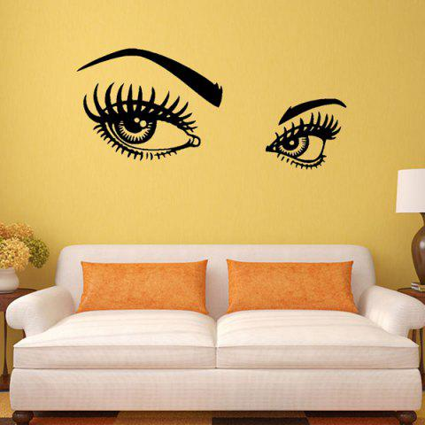 Trendy 95*42CMCharming Eyes Pattern Removable Wall Stickers Room Decor BLACK