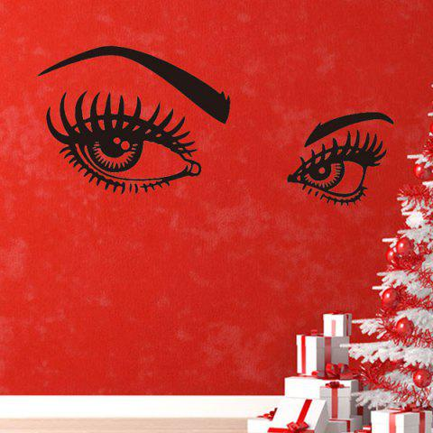 Shop 130*57CMCharming Eyes Pattern Removable Wall Stickers Room Decor BLACK