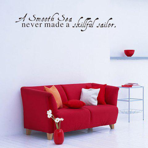 Fancy Motivational Removable Quote Wall Stickers BLACK