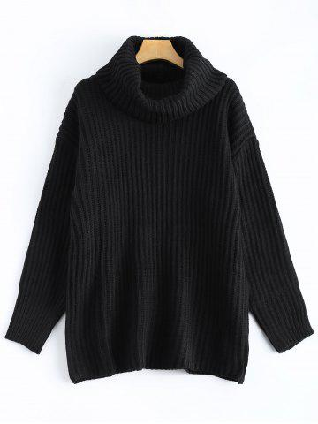 Latest Drop Shoulder Turtleneck Chunky Sweater