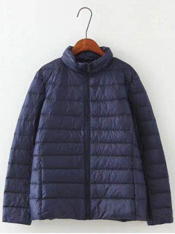 Outfit Long Sleeve Padded Down Jacket - 4XL CADETBLUE Mobile