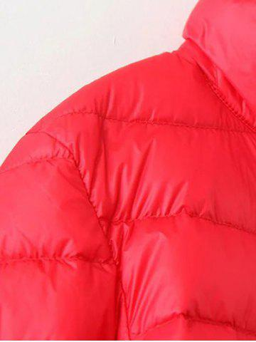 Chic Long Sleeve Padded Down Jacket - 4XL CADETBLUE Mobile