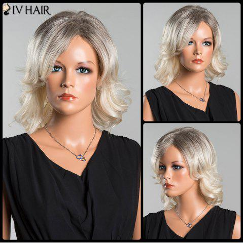 Sale Siv Medium Colormix Side Parting Wavy Human Hair Wig