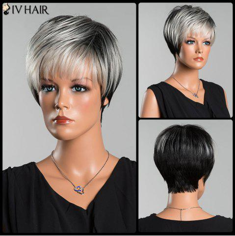 Latest Siv Pixie Straight Short Side Bang Human Hair Wig