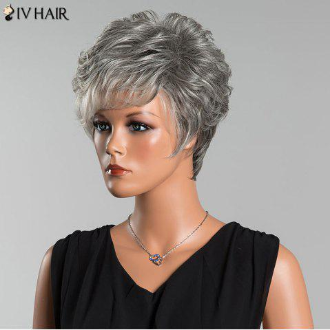 Shops Siv Short Layered Colormix Side Bang Curly Human Hair Wig - COLORMIX  Mobile