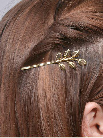 Shops Alloy Leaves Hair Accessory GOLDEN