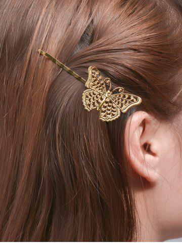 Latest Alloy Butterfly Hair Accessory GOLDEN