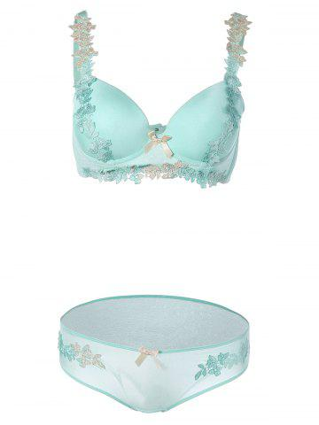Вышитые Push-Up Bra Set