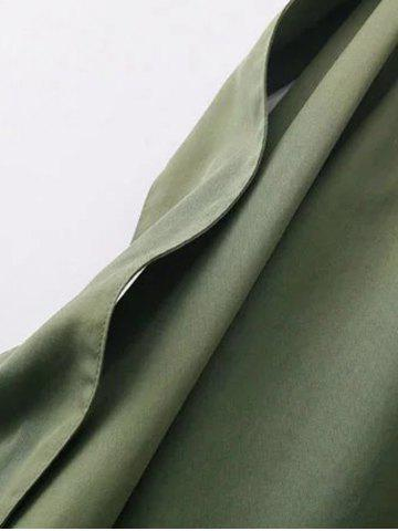 Shops Funnle Collar Jacket - S ARMY GREEN Mobile