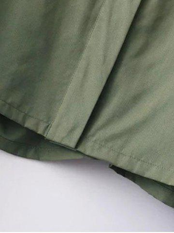 Best Funnle Collar Jacket - S ARMY GREEN Mobile
