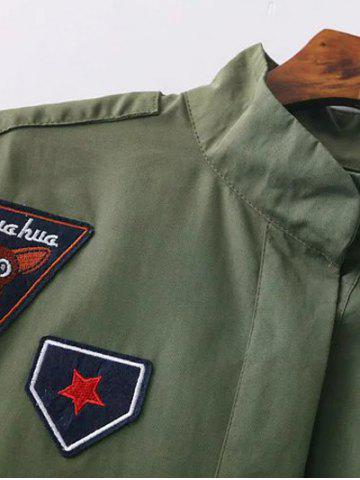 Hot Funnle Collar Jacket - S ARMY GREEN Mobile