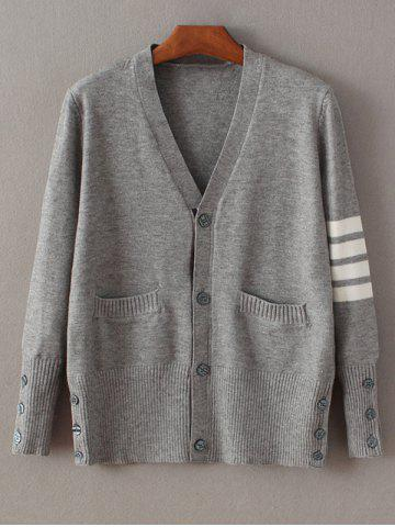 Outfits Buttoned Striped Fitting Cardigan