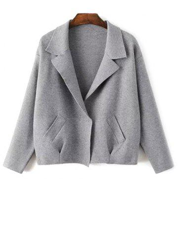 Discount Lapel Neck Blazer Cardigan