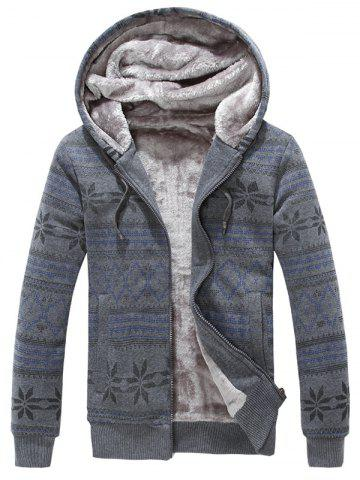 Zippé Blend Slim Fit Cotton Hoodie
