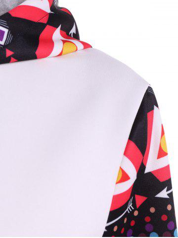 Store Long Sleeve Geometric Halloween Pullover Hoodie - XL WHITE Mobile