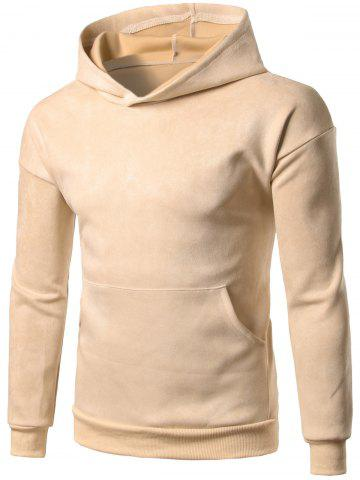 Fashion Brief Style Kangaroo Pocket Pullover Hoodie