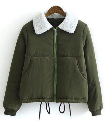 Hot Borg Collar Quilted Winter Jacket