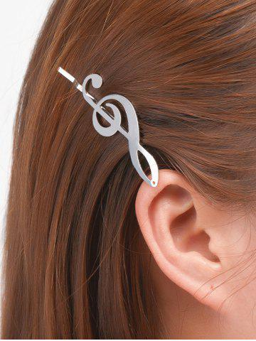 Fashion Alloy Music Note Hair Accessory - SILVER  Mobile