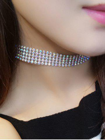 Outfit Rhinestoned Choker Necklace GOLDEN