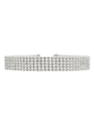 New Rhinestoned Choker Necklace SILVER