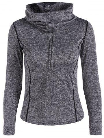 Outfits Sports Wear Drawstring Hoodie - S GRAY Mobile