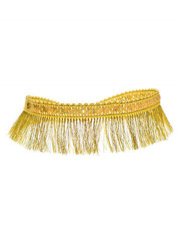 Best Sequins Tassel Choker Necklace GOLDEN