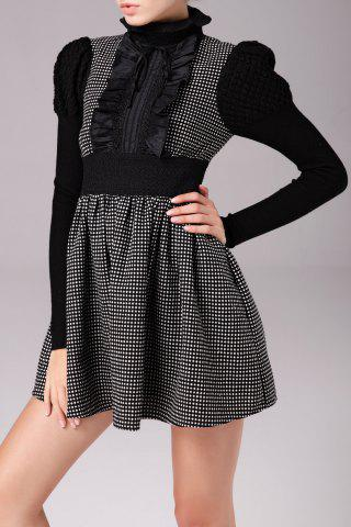 Outfit Lace Ruffle Polka Dot Min Dress