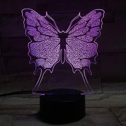 Shop Home Decor 3D Illusion Stereo Color Changing Butterfly LED Night Light