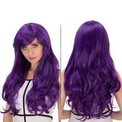 Long Shaggy Wavy Oblique Bang Synthetic Lolita Wig