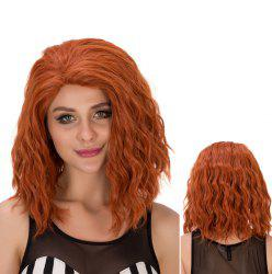 Medium Bouffant Wavy Heat Resistant Fiber Wig