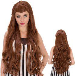 Long Wavy With Braids Elves Heat Resistant Fiber Wig