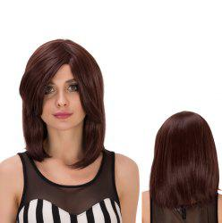 Medium Side Bang Straight Heat Resistant Fiber Wig