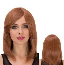 Fascinating Medium Side Bang Straight Heat Resistant Fiber Wig