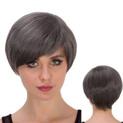Spiffy Short Side Bang Straight Heat Resistant Fiber Wig