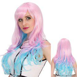 Long Side Bang Wavy Bright Coloured Cosplay Synthetic Wig