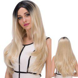 Long Centre Parting Colormix Straight Synthetic Wig - COLORMIX